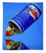 Pepsi Can Hot Air Balloon At Solberg Airport Reddinton  New Jersey Fleece Blanket