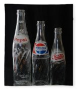 Pepsi Cola Bottles Fleece Blanket