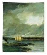Pequot Light House Connecticut Coast 1902 Fleece Blanket