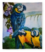 Perched In Paradise Fleece Blanket