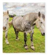 Percherons Horses Fleece Blanket