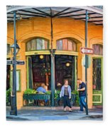 Pere Antoine Restaurant - Paint Fleece Blanket