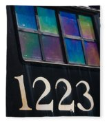 Pere Marquette Locomotive 1223 Fleece Blanket