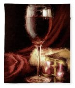 A Perfect Glass Of Wine Fleece Blanket