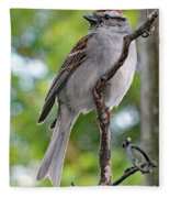 Perfect Profile - Chipping Sparrow Fleece Blanket