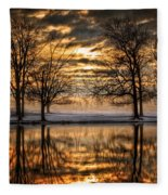 Perfect Sunset Fleece Blanket
