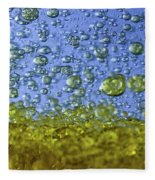 Abstract Olive Oil Fleece Blanket