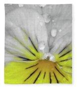 Perfectly Pansy 16 - Bw - Yellow Fleece Blanket