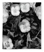 Perfectly Pansy 18 - Bw - Water Paper Fleece Blanket