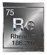 Periodic Table Of Elements - Rhenium Fleece Blanket
