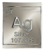 Periodic Table Of Elements - Silver - Ag Fleece Blanket