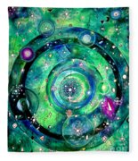 Universe Inside Of Electrons. Periodic Table Of The Elements Fleece Blanket