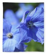 Periwinkle Flower Fleece Blanket