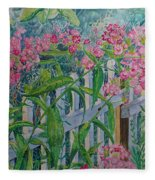 Perky Pink Phlox In A Dahlonega Garden Fleece Blanket
