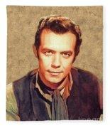 Pernell Roberts, Vintage Actor Fleece Blanket