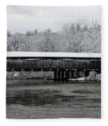 Perrine's Bridge After The Nor'easter Fleece Blanket