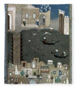 Persian Miniature, 1468 Fleece Blanket