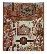 Persian Miniature, 1567 Fleece Blanket