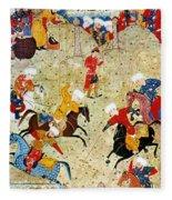 Persian Polo Game Fleece Blanket