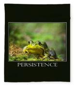 Persistence Inspirational Motivational Poster Art Fleece Blanket