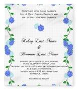Personalized Wedding Invitations Fleece Blanket
