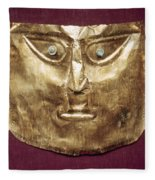 Peru: Chimu Gold Mask Fleece Blanket