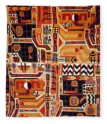 Peru: Tunic Fragment Fleece Blanket