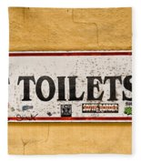 Pet Toilets Fleece Blanket
