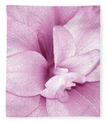 Petals In Pink Fleece Blanket