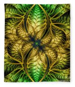 Petals Of Life Fleece Blanket