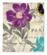 Petals Of Paris II Fleece Blanket