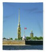 Peter And Paul Fortress. Saint Petersburg, Russia Fleece Blanket