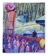 Peter Rowen At Copper Mountain Fleece Blanket