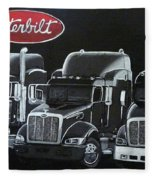 Peterbilt Trucks Fleece Blanket