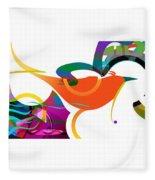 Petit Oiseau De Paradis Fleece Blanket