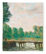 Petit Pont Sur L'orvanne Fleece Blanket