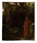 Petrarch By The Fountain Of Vaucluse Fleece Blanket
