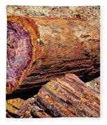 Petrified Log Fleece Blanket