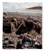 Petrified Wood #2 Fleece Blanket