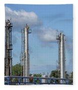 Petrochemical Plant Refinery Industry Zone Fleece Blanket