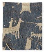 Petroglyphs, Utah Fleece Blanket