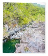 Petrohue River In Vicente Perez Rosales National Park Near Puerto Montt-chile Fleece Blanket