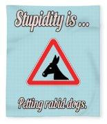 Petting Bigstock Donkey 171252860 Fleece Blanket