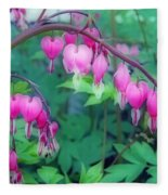 Pretty Little Bleeding Hearts Fleece Blanket