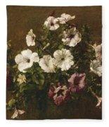 Petunias Fleece Blanket