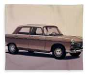 Peugeot 404 1960 Painting Fleece Blanket
