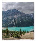 Peyto Lake Banff Fleece Blanket
