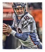 Peyton Manning Art 1 Fleece Blanket