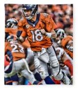Peyton Manning Art 2 Fleece Blanket