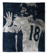 Peyton Manning Broncos 2 Fleece Blanket